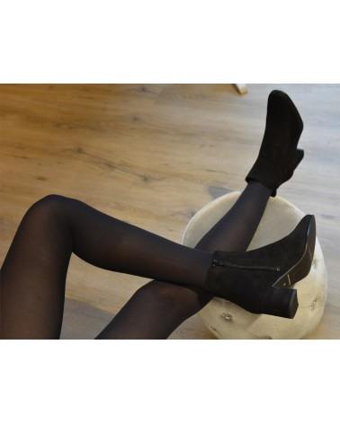 Boots à talons noirs en daim femme EXIT