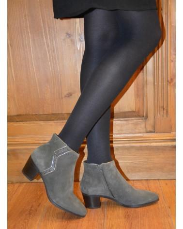 Boots à talons kaki femme REQINS