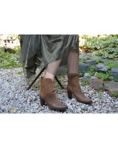 Boots cognac femme à talons MINKA