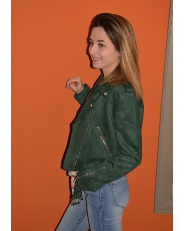c819c5939e0d Veste vert gazon style perfecto pour femme PEACE N LOVE