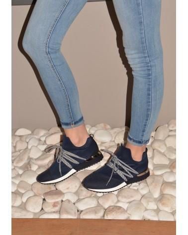 Basket marine à lacets pour femme REQINS