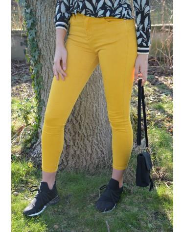 Pantalon jaune safran MONDAY slim
