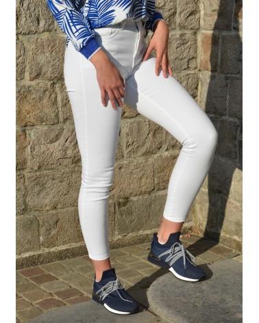 Jeans blanc MONDAY slim et taille montante