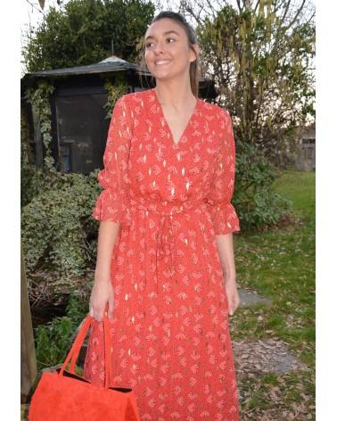 Longue robe IT HIPPIE imprimée motifs rouge