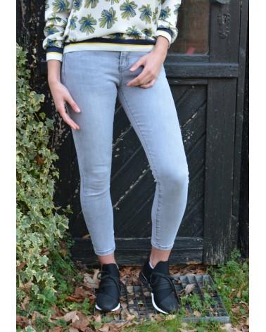 Jeans gris MONDAY slim taille haute