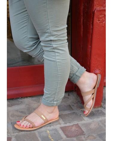 Sandale à enfiler TROPEZIENNES avec entre doigts en cuir souple
