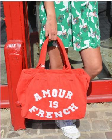 """Sac en tissu """"amour is French"""" AUREN"""