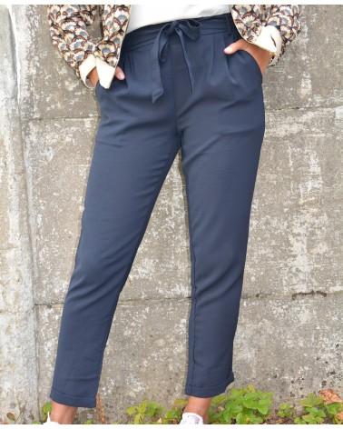 Pantalon pour femme fluide couleur marine CERISE BLUE