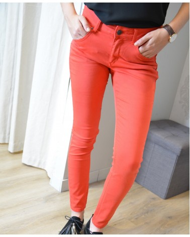 Pantalon slim rouge TOXIK