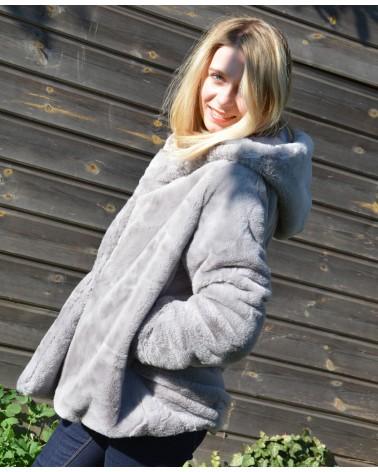 Manteau gris peluche LILI&LALA