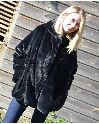 Manteau noir peluche LILI&LALA