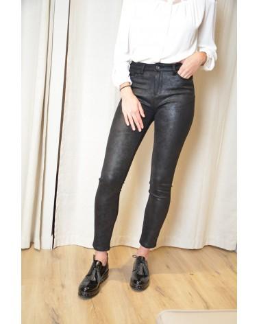 Pantalon suédine noir avec brillance TOXIK
